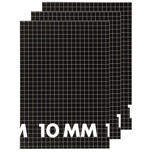 schriften A4 - geruit 10 mm - 3 stuks - 14101619 - HEMA