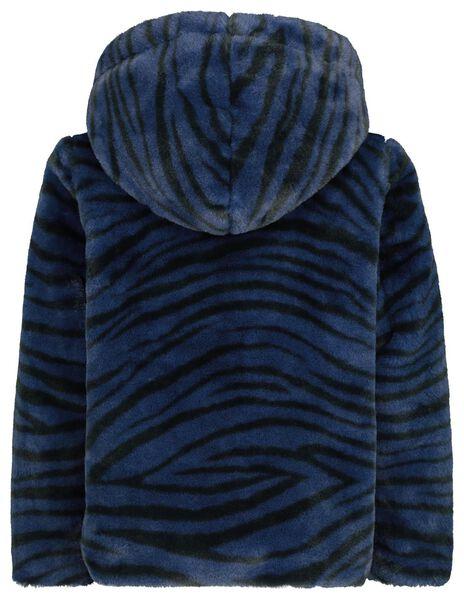 imitatiebont kinderjas donkerblauw - 1000020444 - HEMA