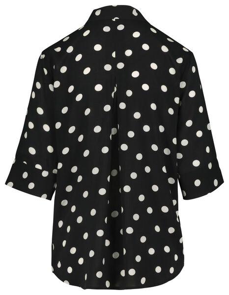 damesblouse zwart/wit zwart/wit - 1000018453 - HEMA