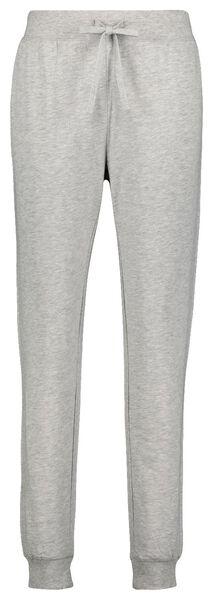 dames pyjamabroek katoen sweat grijsmelange S - 23422231 - HEMA
