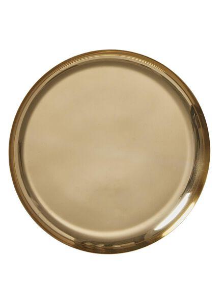 kaarsonderzetter - Ø 25 cm - goud - 13382061 - HEMA