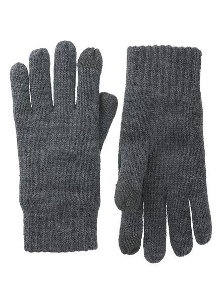 herenhandschoenen grijsmelange grijsmelange - 1000011681 - HEMA