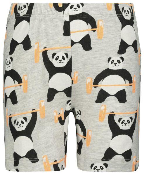 kindershortama panda gebroken wit 122/128 - 23020264 - HEMA