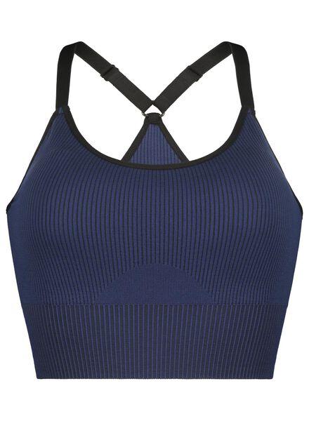 padded sport top - naadloos donkerblauw XL - 21710024 - HEMA
