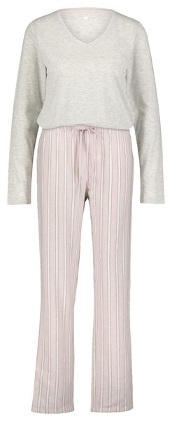 damespyjama roze roze - 1000021714 - HEMA