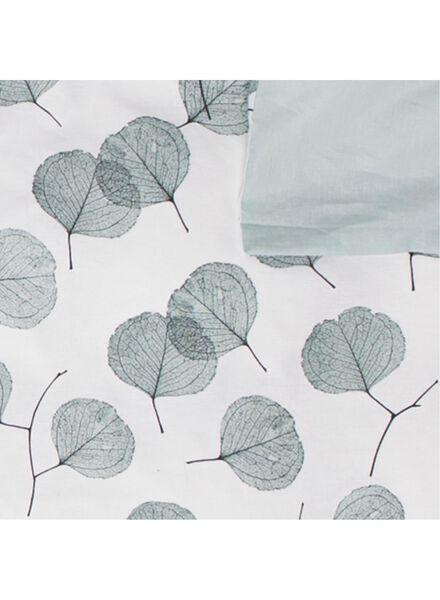 dekbedovertrek - zacht katoen - bladeren wit wit - 1000016615 - HEMA