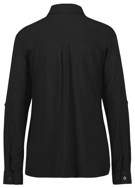 damesblouse zwart zwart - 1000025260 - HEMA