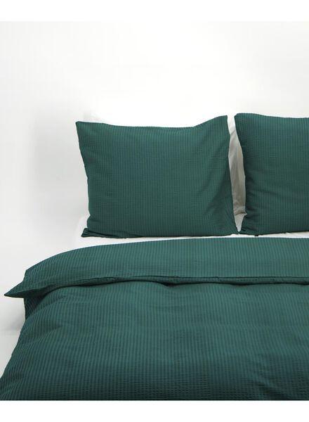 dekbedovertrek - zacht katoen - structuur groen groen - 1000016613 - HEMA