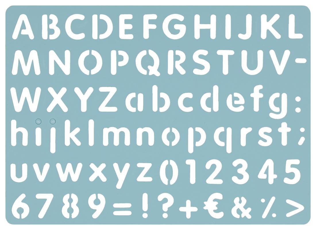 HEMA Tekensjabloon Letters & Cijfers