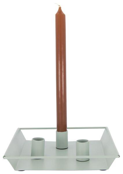kaarsplateau - 20.5 x 20.5 x 2.5 - lichtgroen - 13392003 - HEMA