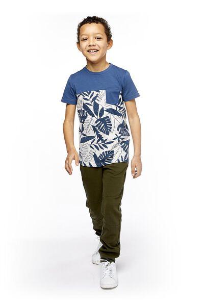 kinder t-shirt grijsmelange 98/104 - 30769258 - HEMA