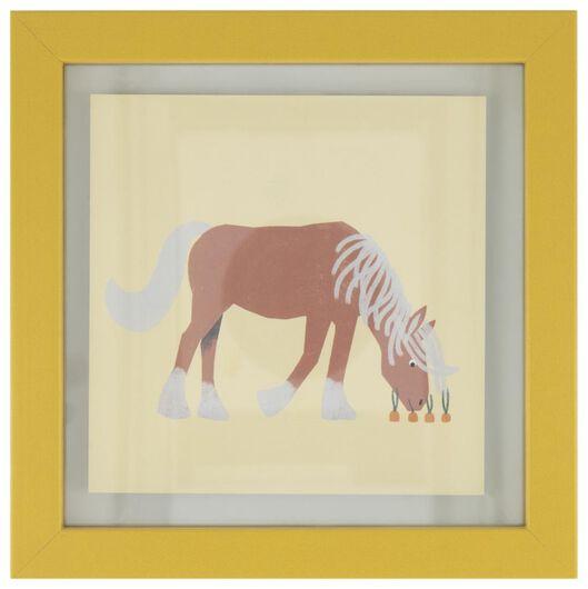 fotolijst 17x17 paard geel - 13211170 - HEMA