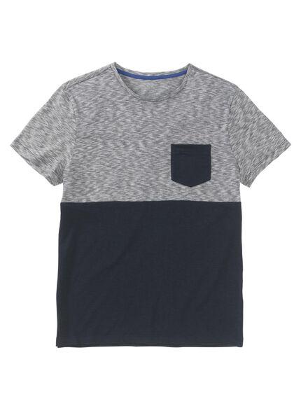 heren t-shirt donkerblauw donkerblauw - 1000009029 - HEMA