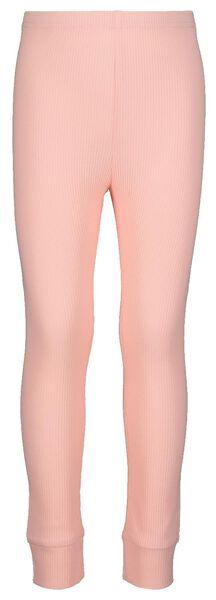 kinderpyjama rib met bamboe roze - 1000021054 - HEMA