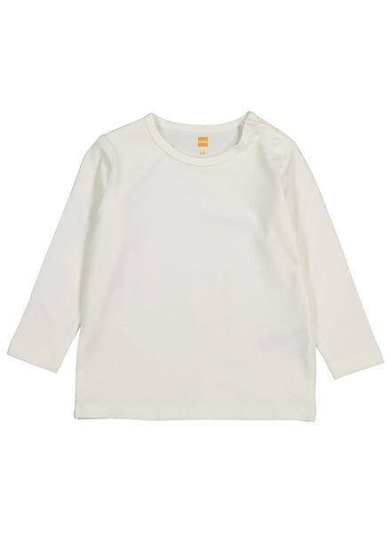 baby t-shirt met bamboe gebroken wit gebroken wit - 1000014266 - HEMA
