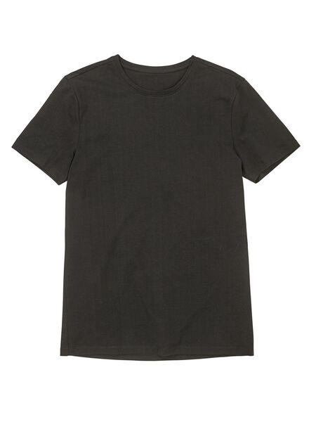 heren t-shirt zwart zwart - 1000009942 - HEMA