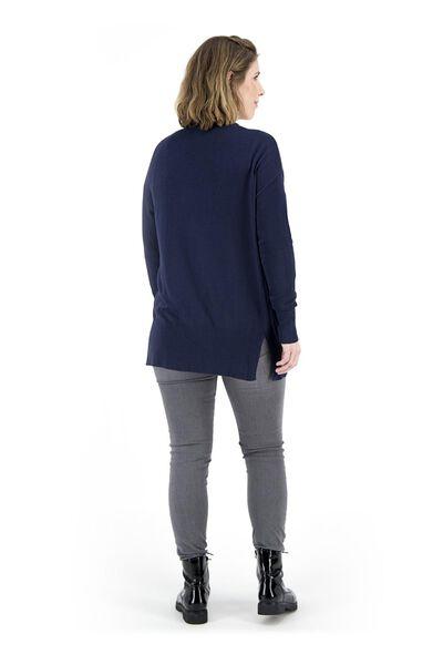 damesvest fijngebreid donkerblauw donkerblauw - 1000018285 - HEMA