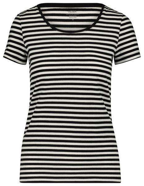 dames t-shirt zwart/wit zwart/wit - 1000018268 - HEMA