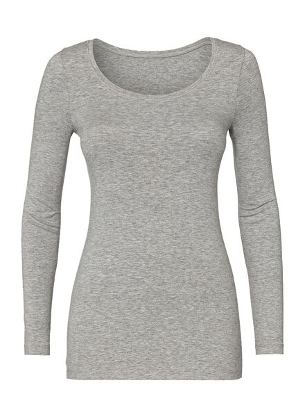 dames t-shirt lichtgrijs lichtgrijs - 1000005480 - HEMA