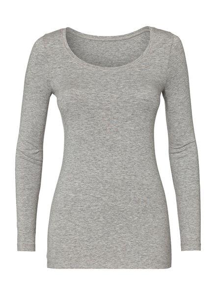 dames basic t-shirt lichtgrijs lichtgrijs - 1000005480 - HEMA