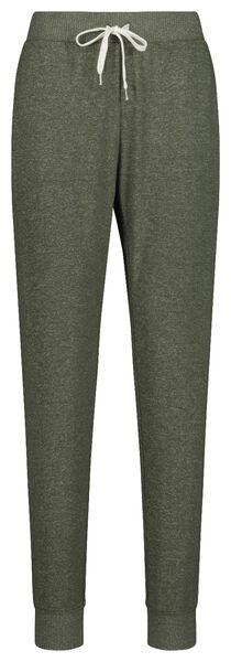 dames pyjamabroek sweat groen groen - 1000018753 - HEMA