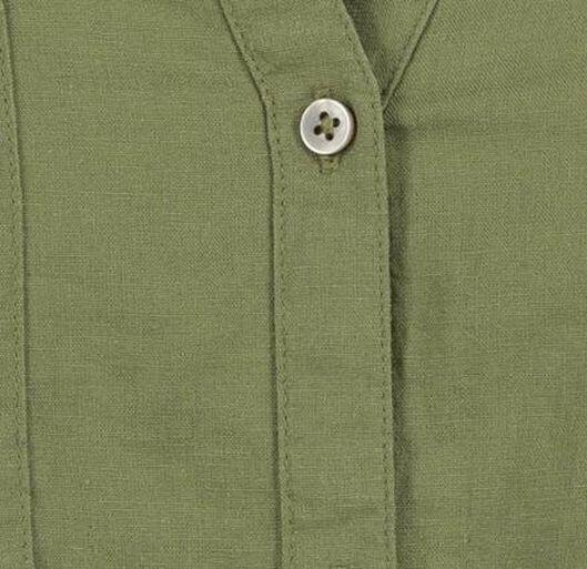 damesblouse met linnen olijf olijf - 1000019625 - HEMA