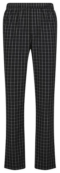 Heren pyjamabroek geruit zwart