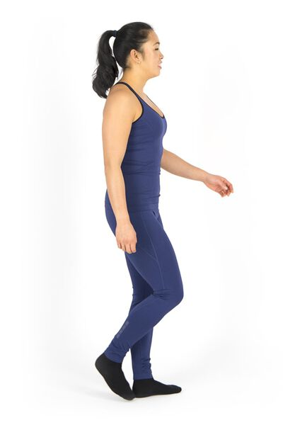 dames corrigerende sportlegging donkerblauw donkerblauw - 1000017386 - HEMA