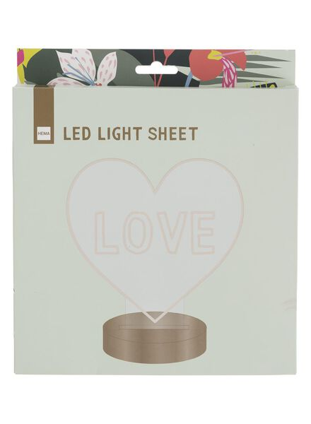 LED lichtplaat 21,5 x 21 cm - 60100414 - HEMA
