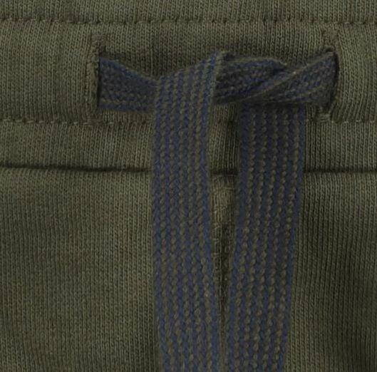 2-pak kinder sweatshorts legergroen 110/116 - 30758042 - HEMA