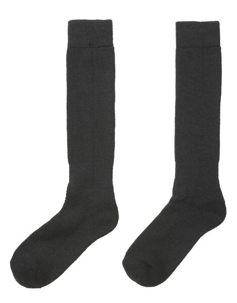 2-pak skisokken zwart zwart - 1000017242 - HEMA