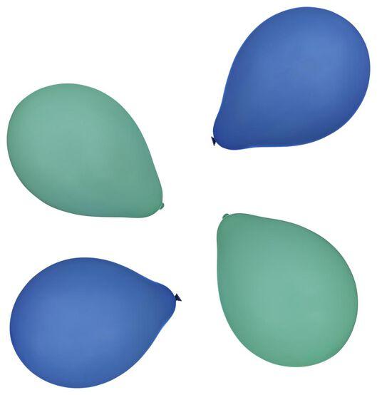 ballonnen 23cm groen/blauw - 20 stuks - 14200528 - HEMA