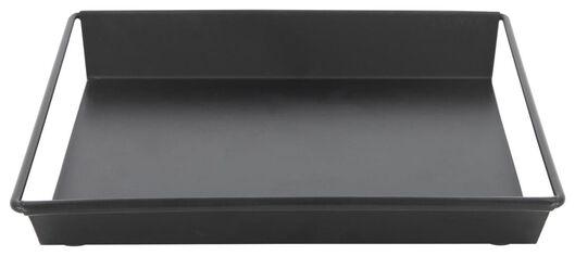kaarsplateau - 20.5 x 20.5 x 3 - zwart metaal - 13321018 - HEMA