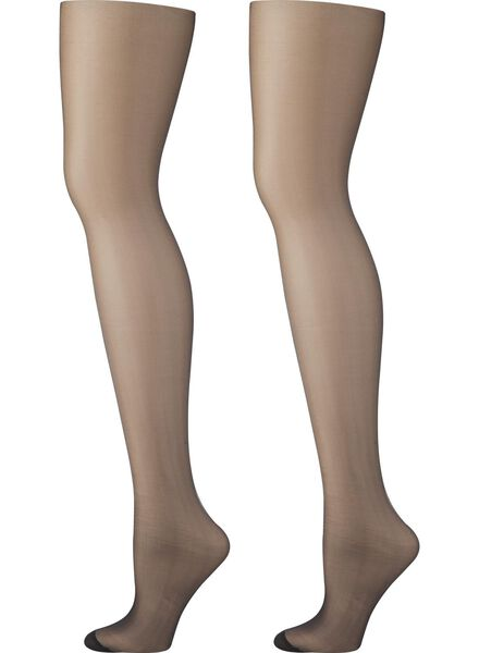 2-pak corrigerende panty's zwart zwart - 1000001031 - HEMA