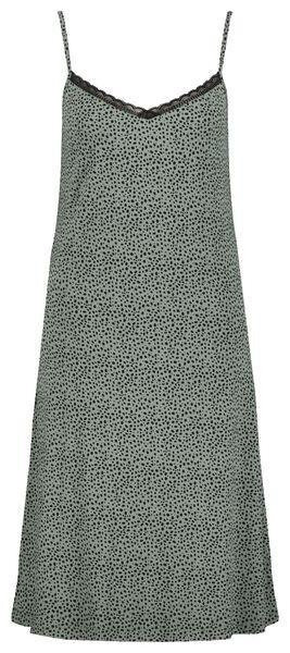 damesnachthemd kant groen - 1000024196 - HEMA