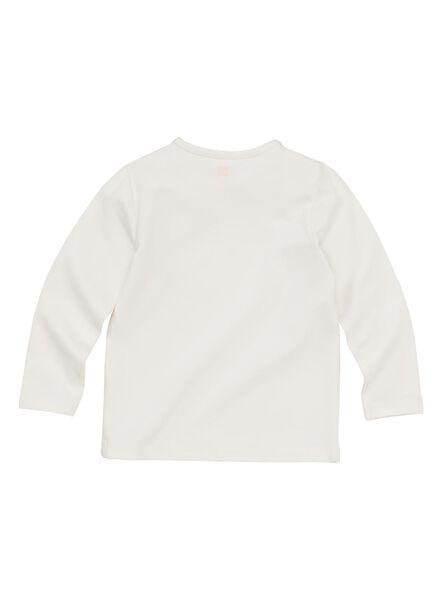 baby t-shirt bamboe gebroken wit gebroken wit - 1000011959 - HEMA