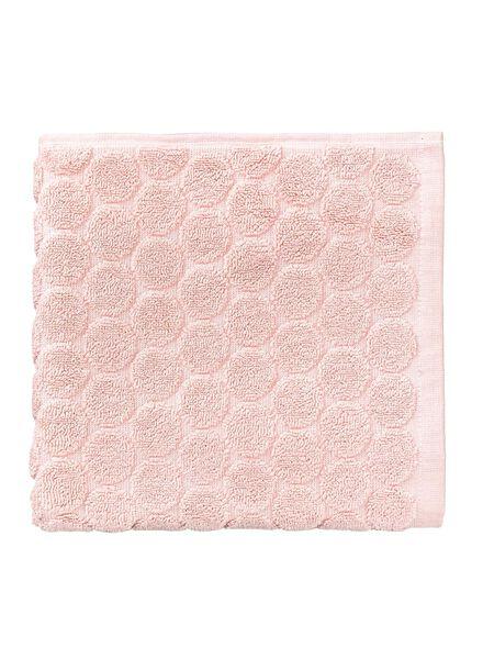 handdoek - 50 x 100 cm - zware kwaliteit - roze gestipt roze handdoek 50 x 100 - 5240189 - HEMA