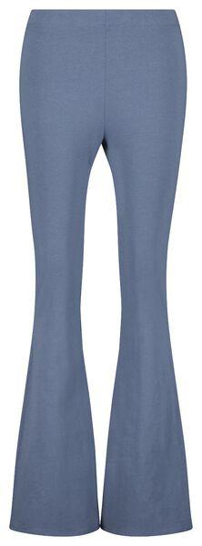 damesbroek biologisch katoen blauw XL - 36290489 - HEMA