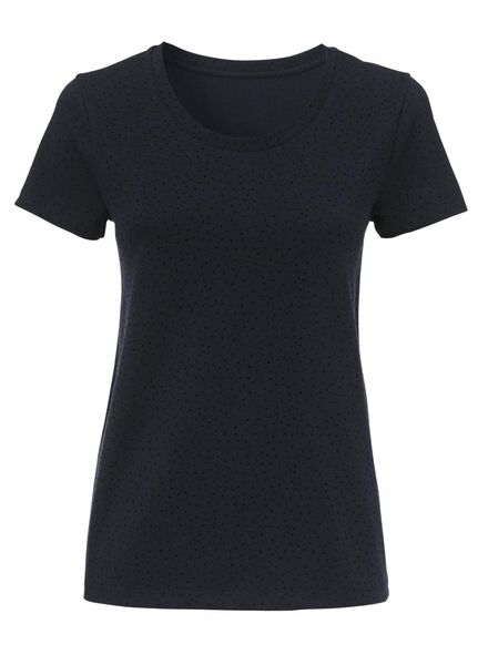 dames t-shirt donkerblauw M - 36260552 - HEMA