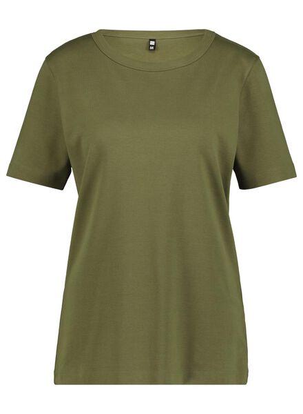 dames t-shirt olijf olijf - 1000014833 - HEMA