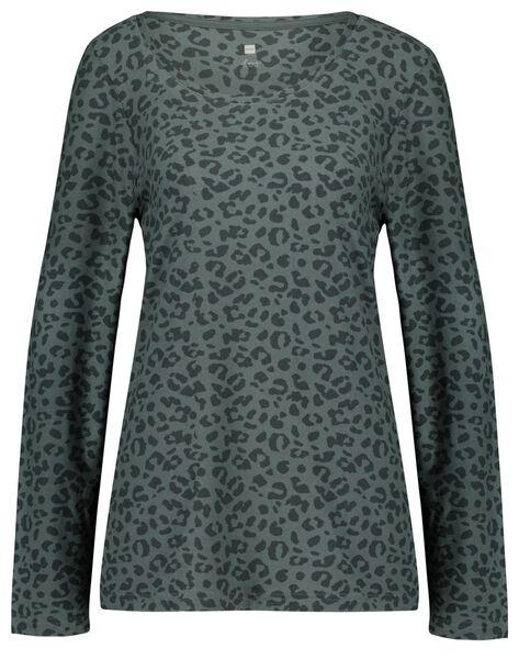 Damespyjama micro animal groen - in Pyjama's & Loungewear