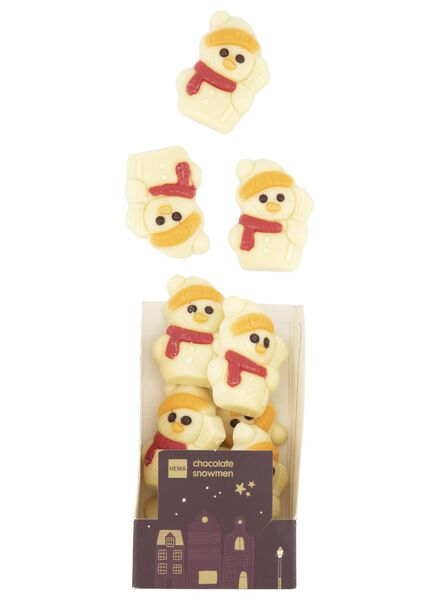 witte chocolade sneeuwpopjes - 10040040 - HEMA