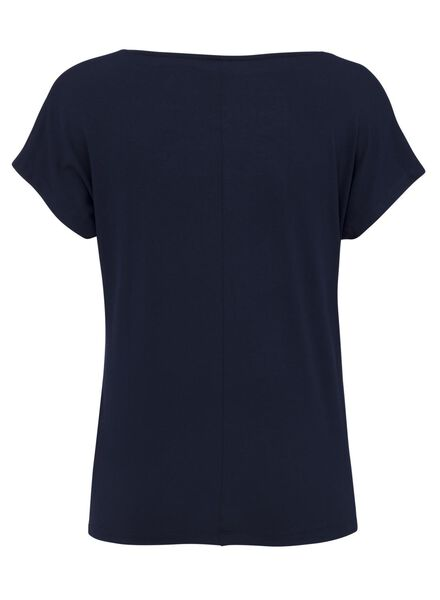 dames t-shirt donkerblauw donkerblauw - 1000008279 - HEMA