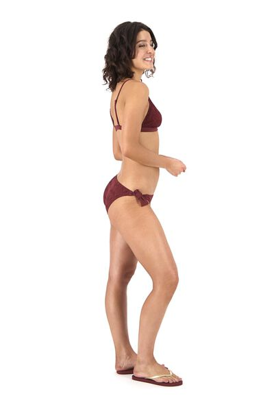dames padded triangle bikinitop donkerrood donkerrood - 1000017917 - HEMA