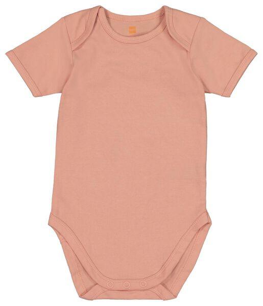 romper organic katoen stretch - 4 stuks roze roze - 1000018392 - HEMA