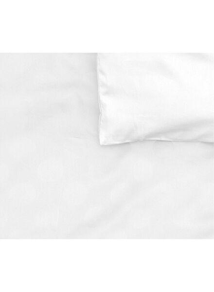 dekbedovertrek - hotel katoen satijn - 200 x 200 cm - wit stip wit 200 x 200 - 5710045 - HEMA