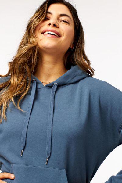 dames capuchonsweater blauw blauw - 1000024072 - HEMA