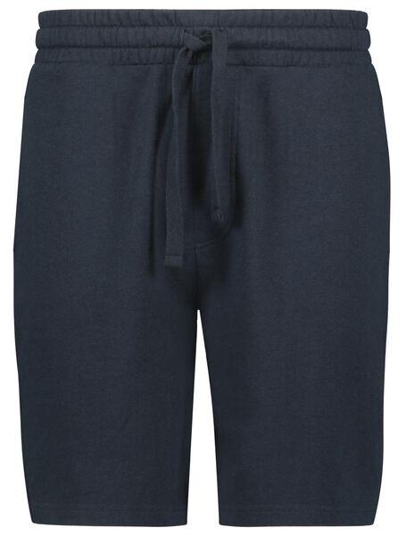 heren sweatshort donkerblauw donkerblauw - 1000023708 - HEMA
