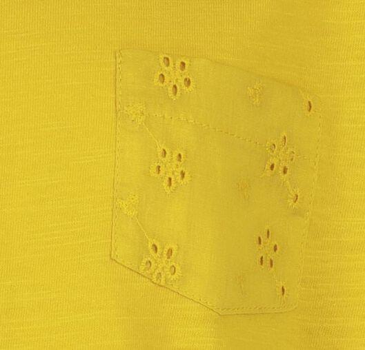 2-pak kinder t-shirts geel geel - 1000019095 - HEMA