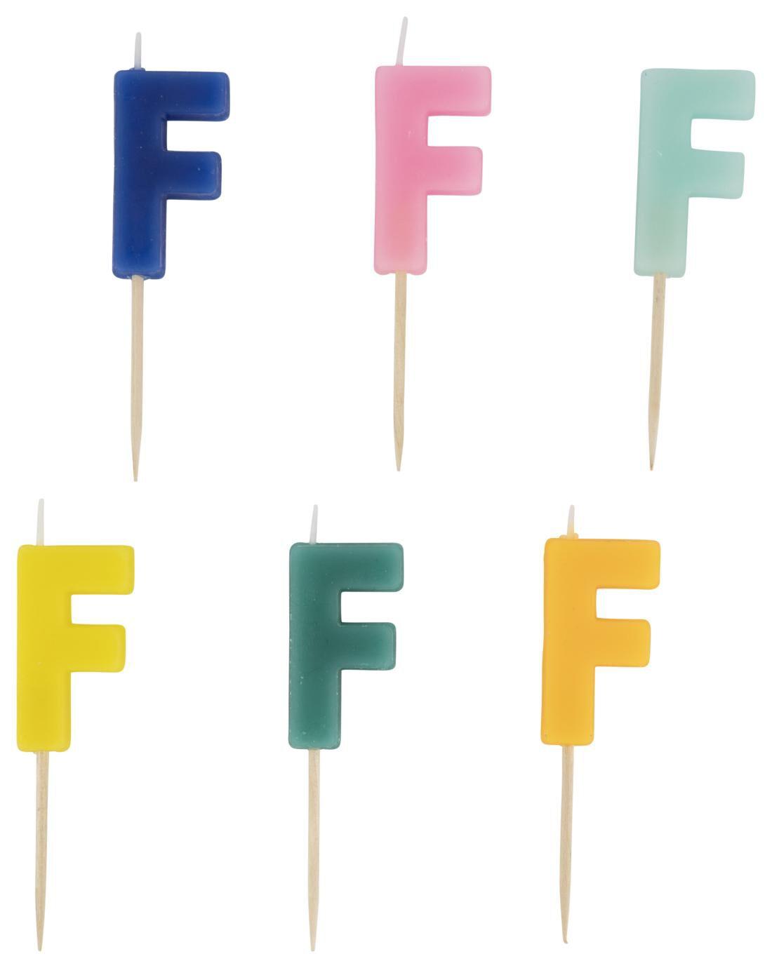 HEMA Taartkaarsje - Letter F